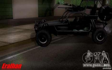 Desert Patrol Vehicle para GTA San Andreas vista posterior izquierda