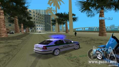 Skoda Octavia 2005 para GTA Vice City vista superior