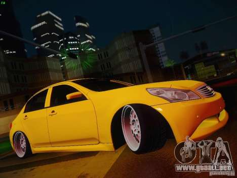 Infiniti G37 Sedan para la vista superior GTA San Andreas