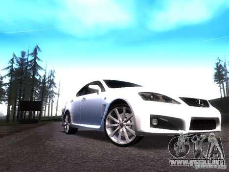 Lexus IS F para GTA San Andreas left