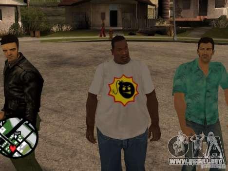 Nueva camiseta para GTA San Andreas segunda pantalla