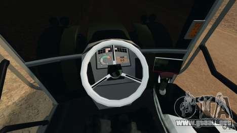 Claas Axion 850 para GTA 4 vista hacia atrás