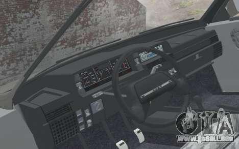 VAZ 2108 Natasha para la visión correcta GTA San Andreas