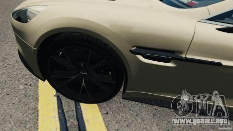 Aston Martin Vanquish 2013 para GTA 4 vista hacia atrás