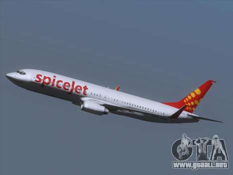 Boeing 737-8F2 Spicejet para la vista superior GTA San Andreas