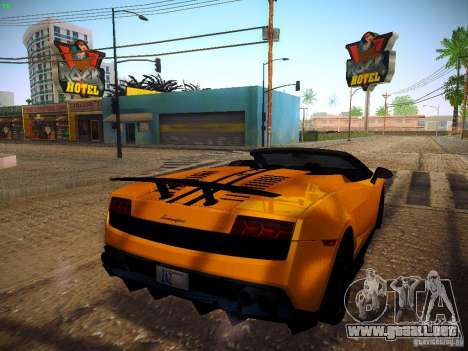 Lamborghini Gallardo LP570-4 Spyder Performante para GTA San Andreas vista posterior izquierda
