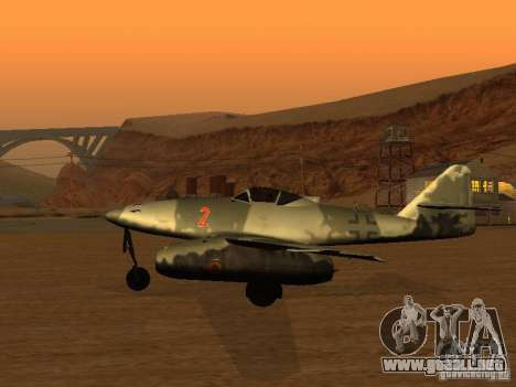 Messerschmitt Me262 para GTA San Andreas left