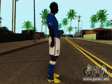 Mario Balotelli v4 para GTA San Andreas segunda pantalla