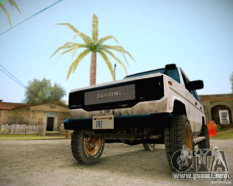 Daihatsu Taft Hiline Long para visión interna GTA San Andreas