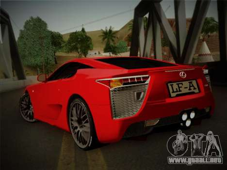 Lexus LFA Nürburgring Edition para GTA San Andreas left