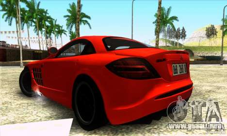 Mercedes Mclaren SLR 722 para GTA San Andreas left