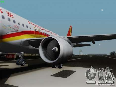 Airbus A320-214 Hong Kong Airlines para GTA San Andreas left