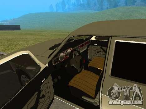 Volga GAZ-24 12 para GTA San Andreas vista hacia atrás