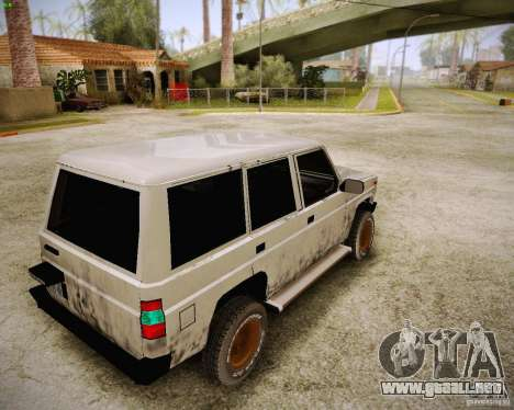 Daihatsu Taft Hiline Long para GTA San Andreas vista posterior izquierda