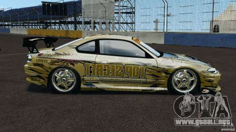 Nissan Silvia S15 D1GP TOP SECRET para GTA 4 left
