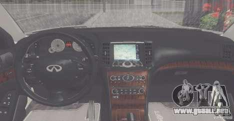 Infiniti M35 para la visión correcta GTA San Andreas