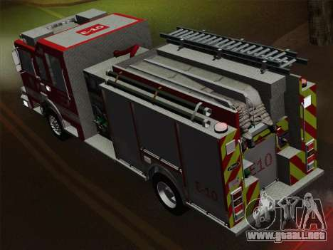 Pierce Saber LAFD Engine 10 para el motor de GTA San Andreas