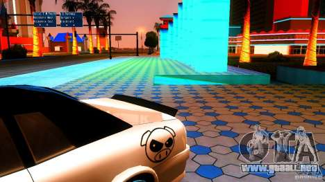 Black and White Elegy para GTA San Andreas vista posterior izquierda