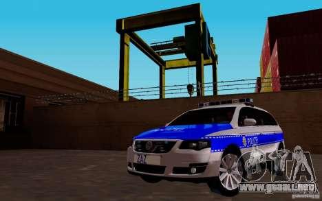 Volkswagen Passat B6 Variant Polizei para GTA San Andreas vista hacia atrás