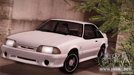 Ford Mustang SVT Cobra 1993 para GTA San Andreas left