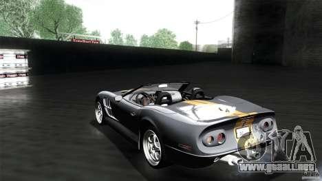 Shelby Series 1 1999 para GTA San Andreas left