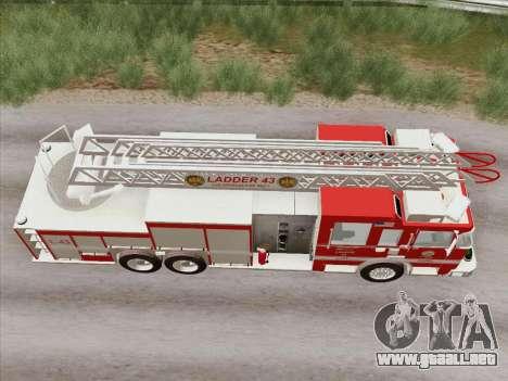 Pierce Arrow LAFD Ladder 43 para vista lateral GTA San Andreas