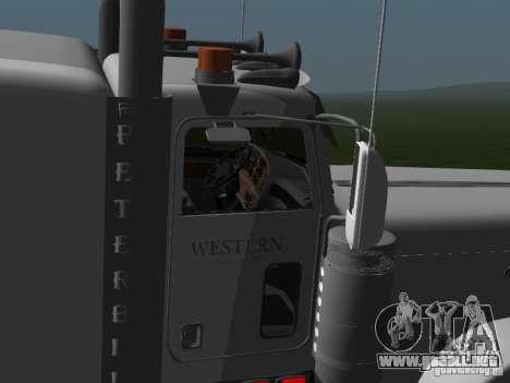 Peterbilt 389 2009 para GTA San Andreas vista posterior izquierda