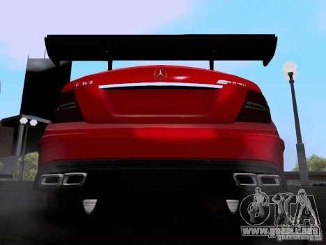 Mercedes-Benz C63 AMG 2012 Black Series para la visión correcta GTA San Andreas