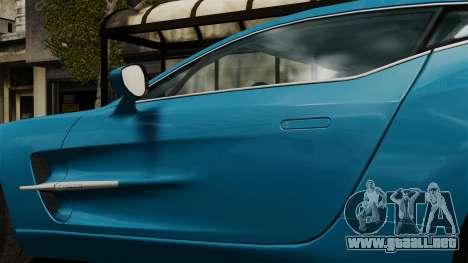 Aston Martin One-77 para GTA 4 vista hacia atrás
