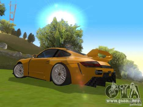 Porsche 911 Turbo Tuning para GTA San Andreas vista posterior izquierda