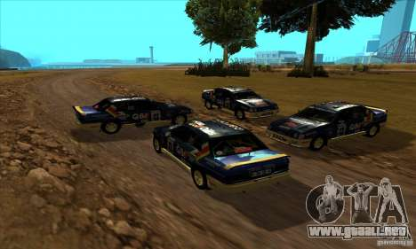Ford Sierra RS500 Cosworth RallySport para GTA San Andreas vista hacia atrás