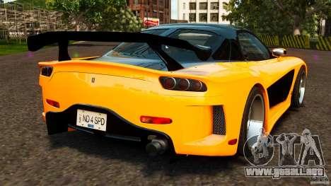 Mazda RX-7 Veilside Tokyo Drift para GTA 4 Vista posterior izquierda