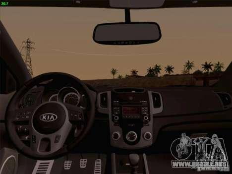 Kia Cerato Coupe 2011 para GTA San Andreas vista hacia atrás