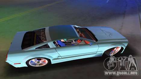 Ford Mustang 2005 GT para GTA Vice City vista posterior