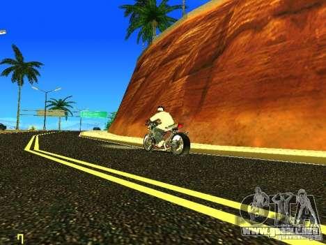 Kawasaki Z400 para GTA San Andreas left