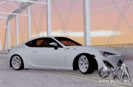 Toyota GT86 para GTA San Andreas left
