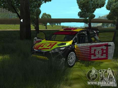 Ford Fiesta H.F.H.V. Ken Block Gymkhana 5 para GTA San Andreas vista hacia atrás