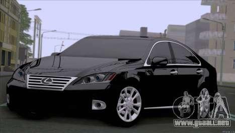 Lexus ES350 para GTA San Andreas left