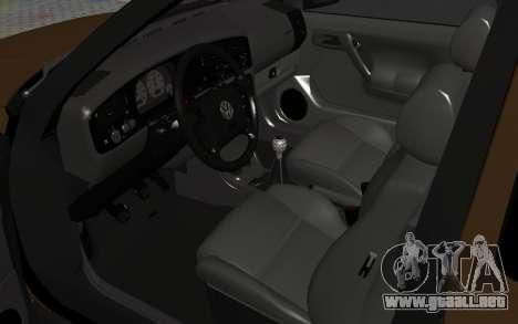Volkswagen Golf Mk3 para GTA San Andreas vista hacia atrás