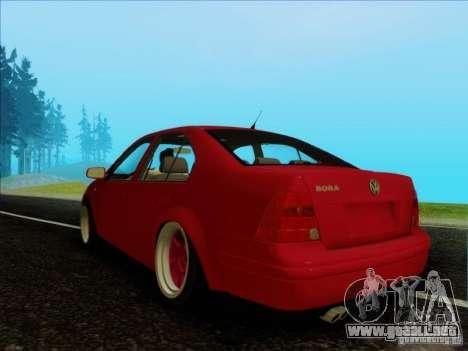 Volkswagen Bora HellaFlush para GTA San Andreas vista posterior izquierda
