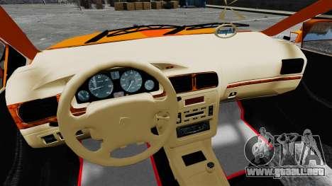Iran Khodro Samand LX Taxi para GTA 4 vista hacia atrás