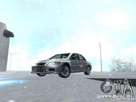 Mitsubishi Lancer Evo IX MR Evolution para visión interna GTA San Andreas