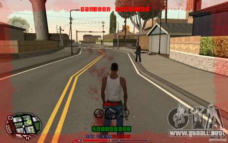 Cleo HUD by Cameron Rosewood V1.0 para GTA San Andreas tercera pantalla