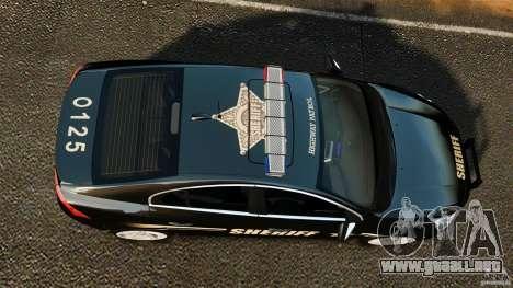 Volvo S60 Sheriff para GTA 4 visión correcta
