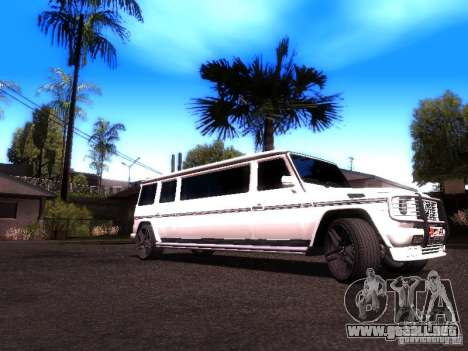 Mercedes-Benz G500 Limousine para GTA San Andreas vista posterior izquierda