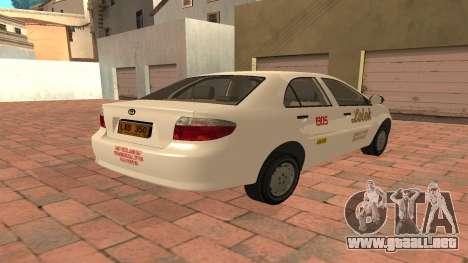 Toyota Corolla - LOLEK TAXI para la visión correcta GTA San Andreas