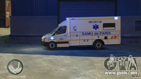 Mercedes-Benz Sprinter Ambulance para GTA 4 visión correcta