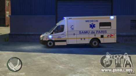 Mercedes-Benz Sprinter Ambulance para GTA 4 visión correcta