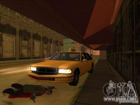 Sangre en coche v2 para GTA San Andreas sucesivamente de pantalla