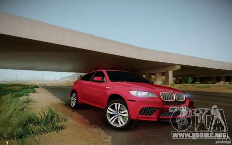 BMW X6 v1.1 para GTA San Andreas vista hacia atrás